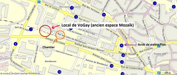 Karte local de VoGay, Lausanne