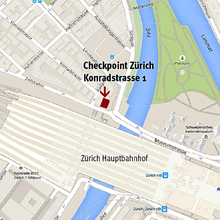 Karte Checkpoint ZH